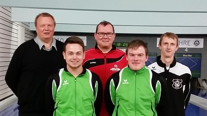 Bild zeigt v.r.n.l.: SKV-Vorsitzenden Joachim Meyer, Marcel Kobe, Stefan Bänsch, Alexander Lutz, Oliver Riediger